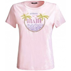 Vêtements Femme Polos manches courtes Guess T-shirt Femme PARTY W91I70 ROSE (rft) Rose