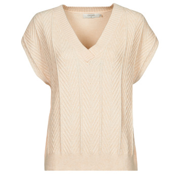 Vêtements Femme Tops / Blouses Cream MAHIMA SLEEVELESS Beige
