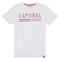 Vêtements Garçon T-shirts manches courtes Kaporal EZIO Blanc