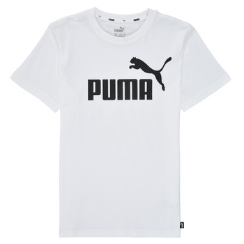 Vêtements Garçon T-shirts manches courtes Puma ESSENTIAL LOGO TEE Blanc