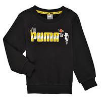 Vêtements Garçon Sweats Puma SNOOPY PEANUTS CREW Noir