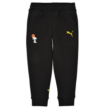 Vêtements Garçon Pantalons de survêtement Puma SNOOPY PEANUTS SWEAT PANT Noir