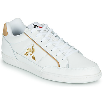Chaussures Homme Baskets basses Le Coq Sportif TOURNAMENT Blanc / Marron