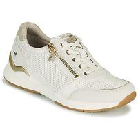 Chaussures Femme Baskets basses Mustang ANINTA Blanc / Doré
