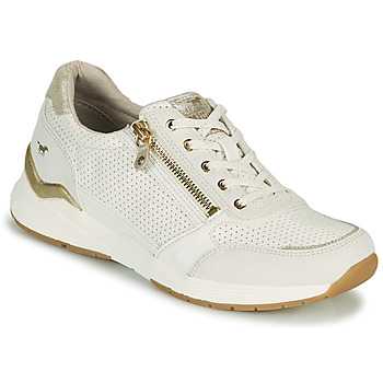 Chaussures Femme Baskets basses Mustang ANINTA Blanc / Doré