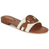 Chaussures Femme Mules Lauren Ralph Lauren ALEGRA Cognac / Beige