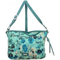 Sacs Femme Sacs Bandoulière Patrick Blanc Sac bandoulière bourse  motif floral Bleu vert
