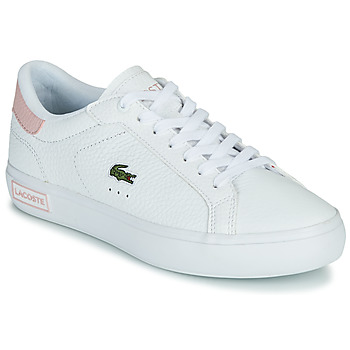 Chaussures Femme Baskets basses Lacoste POWERCOURT 0721 2 SFA Blanc / Rose