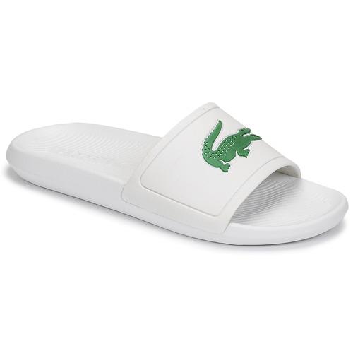 Chaussures Homme Claquettes Lacoste CROCO SLIDE 119 1 CMA Blanc / Vert