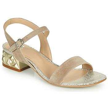 Chaussures Femme Sandales et Nu-pieds Perlato 11817-CAM-FREJE-STONE Beige / Doré