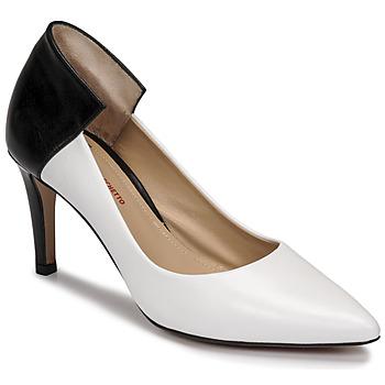 Chaussures Femme Escarpins Perlato 11764-VENUS-BLANC-JAMAICA-NOIR Blanc / Noir