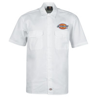 Vêtements Homme Chemises manches courtes Dickies CLINTONDALE S/S WORK SHIRT WHITE Blanc