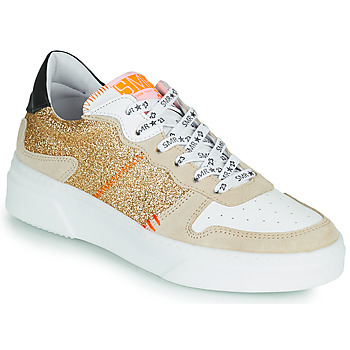 Chaussures Femme Baskets basses Semerdjian SUVA Doré / Blanc / Orange