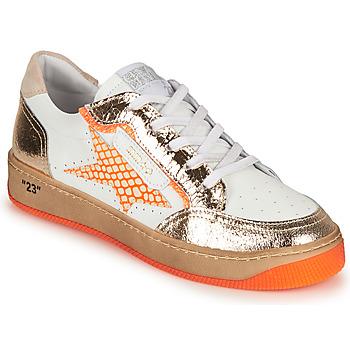 Chaussures Femme Baskets basses Semerdjian ARTO Blanc / Orange