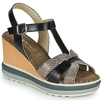Chaussures Femme Sandales et Nu-pieds Dorking TOTEM Noir / Bronze