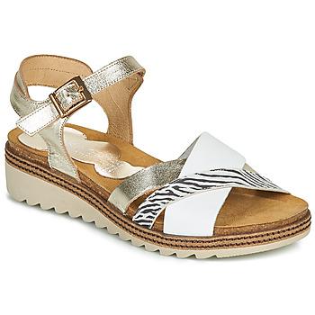 Chaussures Femme Sandales et Nu-pieds Dorking ESPE Blanc / Argenté