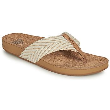 Chaussures Femme Tongs Reef REEF CUSHION STRAND Blanc