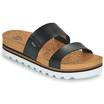 Chaussures Femme Claquettes Reef CUSHION VISTA HI Noir