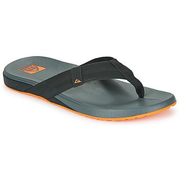 Chaussures Homme Tongs Reef CUSHION PHANTOM Noir / Orange