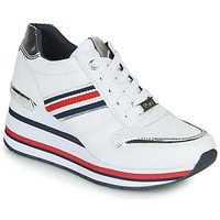 Chaussures Femme Baskets basses Tom Tailor YOLI Blanc / Bleu / Rouge