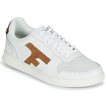 Chaussures Homme Baskets basses Faguo HAZEL LEATHER Blanc / Marron