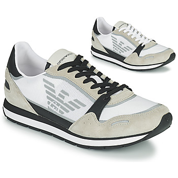 Chaussures Homme Baskets basses Emporio Armani EMPAGNO Blanc