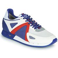 Chaussures Homme Baskets basses Emporio Armani EA7 SAPONI Blanc / Bleu / Rouge
