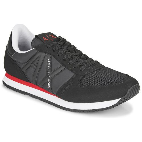 Chaussures Homme Baskets basses Armani Exchange ESPACIA Noir / Rouge