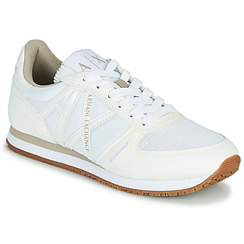 Chaussures Femme Baskets basses Armani Exchange VINCENTI Blanc