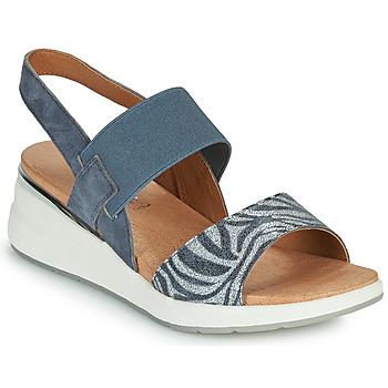 Chaussures Femme Sandales et Nu-pieds Caprice 28306-849 Gris