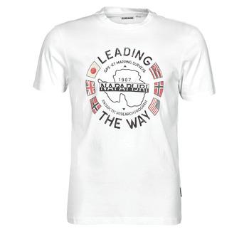 Vêtements Homme T-shirts manches courtes Napapijri SALYA Blanc