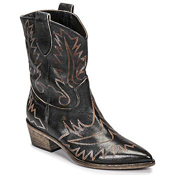Chaussures Femme Bottines Fru.it 6797-372-NERO Noir / Marron