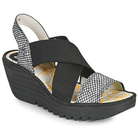 Chaussures Femme Polo Ralph Lauren Fly London YAJI Noir / Blanc