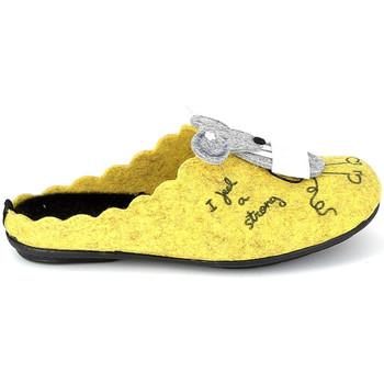 Chaussures Chaussons La Maison De L'espadrille Mule Souris Jaune Jaune