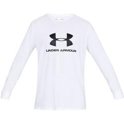 Vêtements Homme T-shirts manches longues Under Armour Sportstyle Logo Blanc