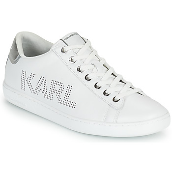 Chaussures Femme Baskets basses Karl Lagerfeld KUPSOLE II KARL PUNKT LOGO LO Blanc