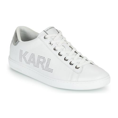 Chaussures Femme Baskets basses Karl Lagerfeld KUPSOLE II KARL PUNKT LOGO LO Blanc