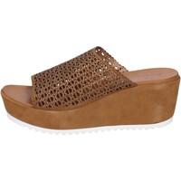 Chaussures Femme Sandales et Nu-pieds Femme Plus BK620 Marron