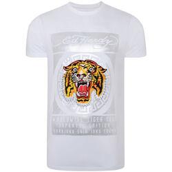 Vêtements Homme T-shirts manches courtes Ed Hardy - Tile-roar t-shirt Blanc