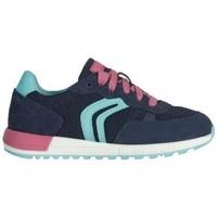Chaussures Fille Baskets mode Geox Basket j alben g. b bleu