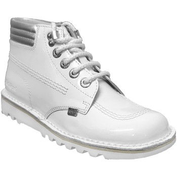 Chaussures Femme Boots Kickers Kick throwback Blanc vernis