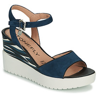 Chaussures Femme Sandales et Nu-pieds Stonefly ELY 11 Bleu / Blanc