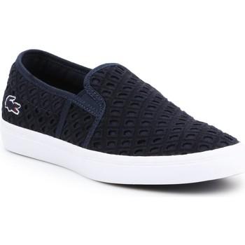 Chaussures Femme Slip ons Lacoste Gazon 219 1 CFA 7-37CFA0014092 granatowy
