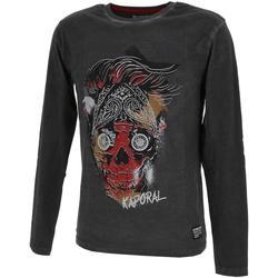 Vêtements Garçon T-shirts manches longues Kaporal Otor blk ml tee jr Noir