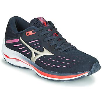 Chaussures Femme Running / trail Mizuno WAVE RIDER 24 Violet / Rose