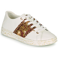 Chaussures Femme Baskets basses Desigual COSMIC EXOTIC LETTERING Blanc