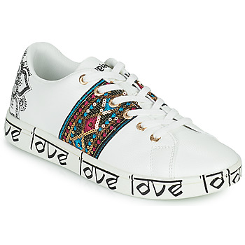 Chaussures Femme Baskets basses Desigual COSMIC EXOTIC INDIAN Blanc