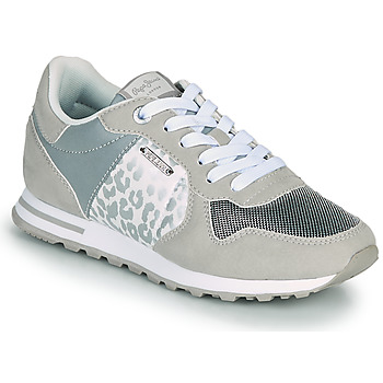 Chaussures Femme Baskets basses Pepe jeans VERONA W STAIN Gris  / Argent