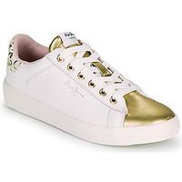 Chaussures Femme Baskets basses Pepe jeans KIOTO FIRE Blanc / Doré