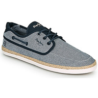 Chaussures Homme Espadrilles Pepe jeans MAUI BOAT CHAMBRAY Marine / Gris